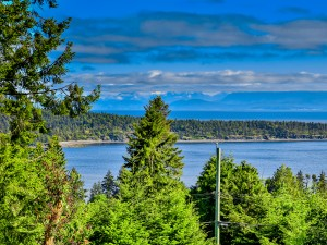 Upper Lantzville view from Northwind home for sale