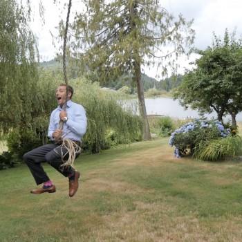 Rope swing fail