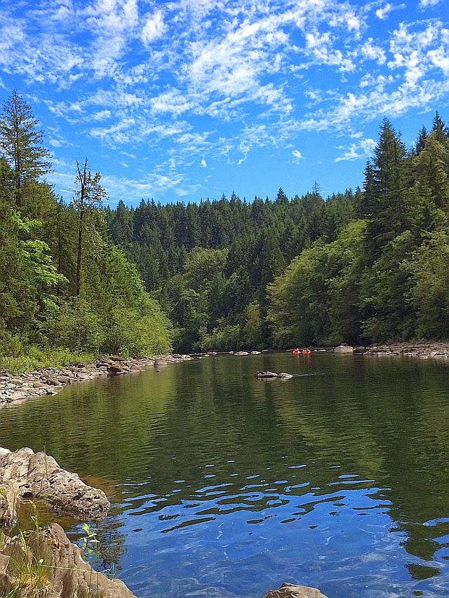 Nanaimo River Vancouver Island Swimming